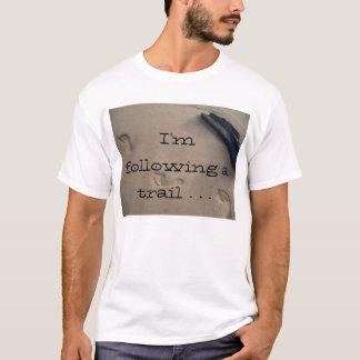 T-shirt Amour de traînée d'empreintes de pas de sable de
