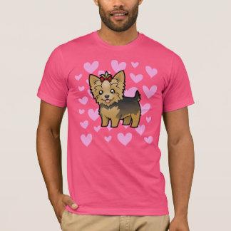 T-shirt Amour de Yorkshire Terrier (cheveux courts avec