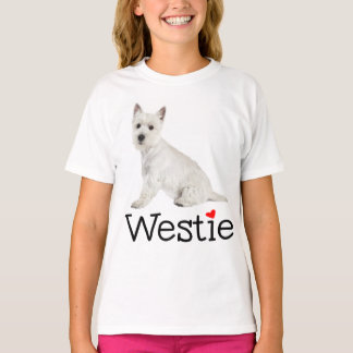 T-shirt Amour des montagnes occidental blanc de Westie de