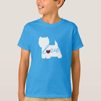 T-shirt Amour des montagnes occidental de Terrier (Westie)