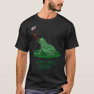 T-shirt Amour étant vert