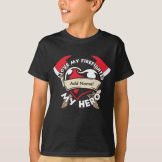 T-shirt Amour fait sur commande mon sapeur-pompier