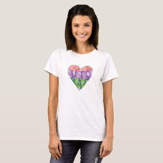 T-shirt Amour, justice, paix - la pièce en t des femmes
