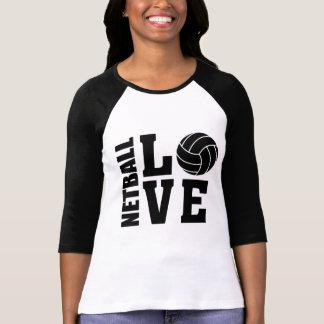 T-shirt Amour noir de net-ball, net-ball