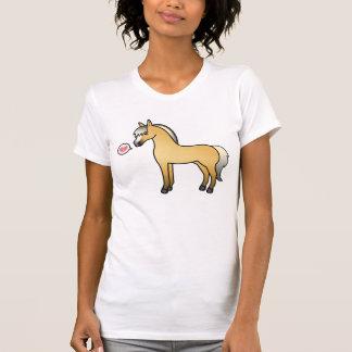 T-shirt Amour norvégien de cheval de fjord de bande