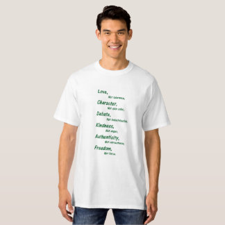 T-shirt Amour, pas tolérance
