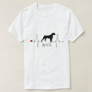 T-shirt Amour personnalisé de boxeur mon battement de