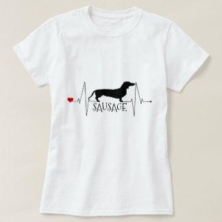 T-shirt Amour personnalisé de teckel mon battement de
