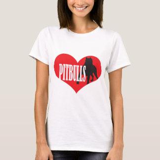 T-shirt Amour Pitbulls