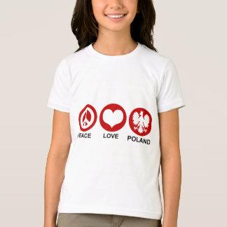T-shirt Amour Pologne de paix