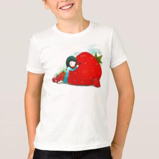T-shirt Amour pour la chemise de fraises