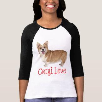 T-shirt Amour rouge de corgi de chiot de corgi de Gallois