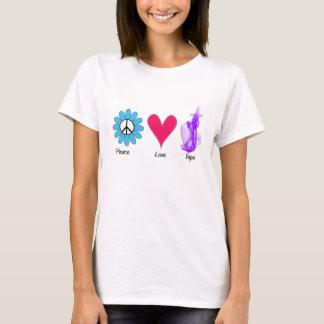 T-shirt Amour Vape de paix de fleur