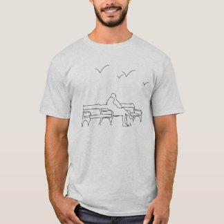 T-shirt Amoureux sur un banc