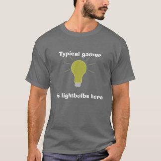 T-shirt ampoule, gamer typique, aucunes ampoules ici