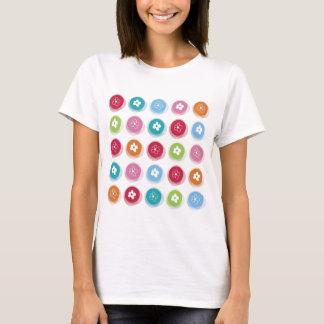 T-shirt Amusement coloré de marguerite d'été de points