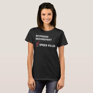 T-shirt Amusement de tueur d'araignée d'exigence d'ami