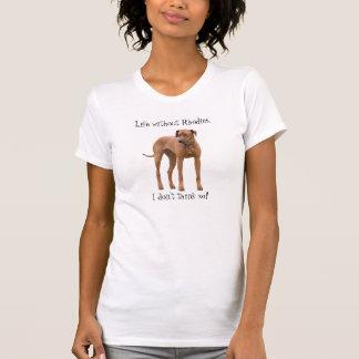T-shirt Amusement d'humour de photo de chien de Rhodesian