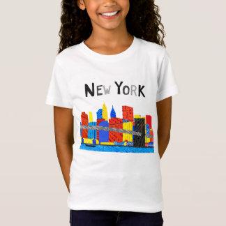 T-Shirt Amusement, illustration espiègle d'horizon de