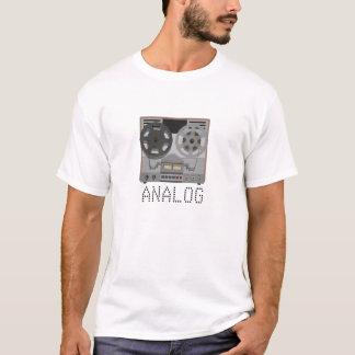 T-shirt ANALOGUE : Lecteur de bande magnétique bobine à