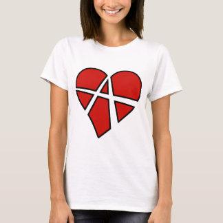 T-shirt Anarchie imprudente de coeur de relations