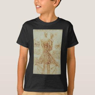 T-shirt Anatomie du cou par Leonardo da Vinci C. 1515
