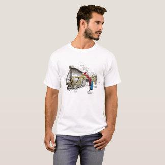 T-shirt Anatomie maxillaire d'humain de nerfs