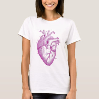 T-shirt Anatomie vintage pourpre de coeur