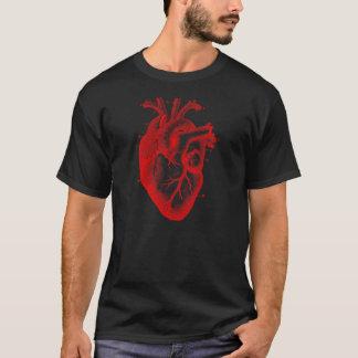 T-shirt anatomique surdimensionné de coeur