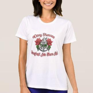 T-shirt Ancre rose de fiancée de marine