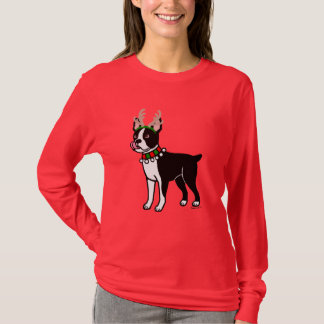 T-shirt Andouillers de Noël de Boston Terrier