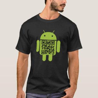 T-shirt androïde de code de QR