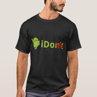 T-shirt androïde de noir d'iDo