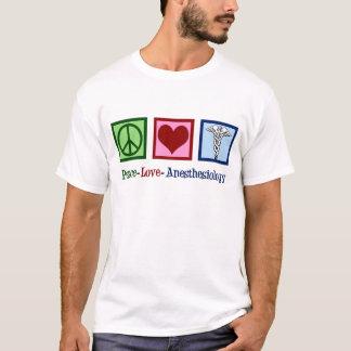 T-shirt Anesthésiologie d'amour de paix