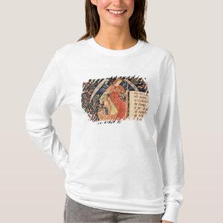 T-shirt Ange avec une éponge fixée à une tige