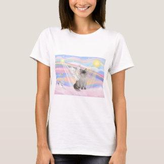 T-shirt Ange de chat de Ragdoll (point bleu) - nuages