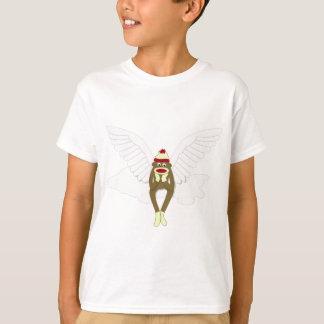 T-shirt Ange gardien de singe de chaussette