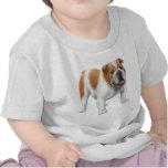 T-shirt anglais de nourrisson de bouledogue