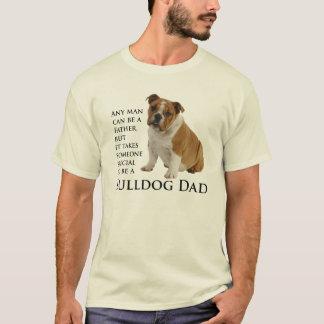 T-shirt anglais de papa de bouledogue