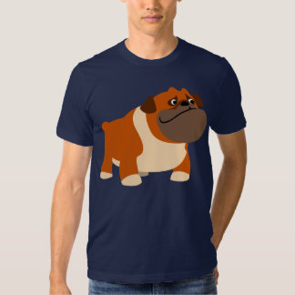 T-shirt anglais mignon de bouledogue