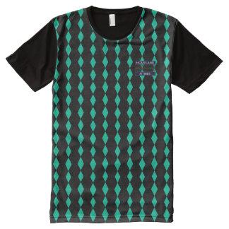 T-shirt anglais riche de bleu de noir de baisse de