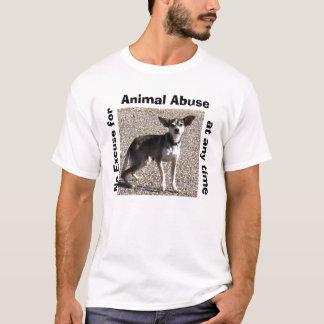 T-shirt animal d'abus