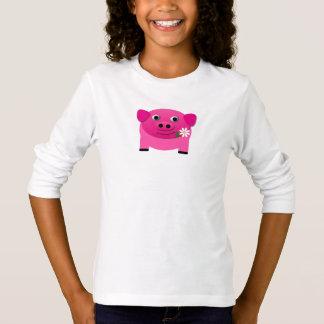 T-shirt animal de nouveauté d'Emoji de porcelet