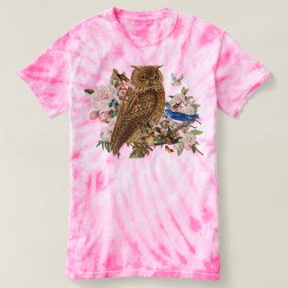 T-shirt animal de TieDye d'esprit de hibou