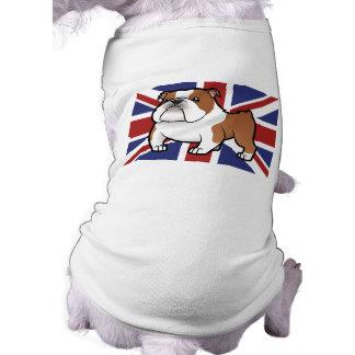 T-shirt Animal familier de bande dessinée avec le drapeau