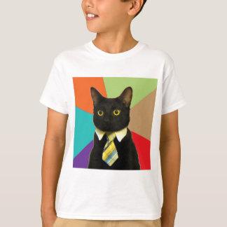 T-shirt Animal Meme de conseil de chat d'affaires