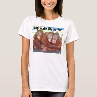 T-shirt Animaux de bébé - les étreintes rendent la vie