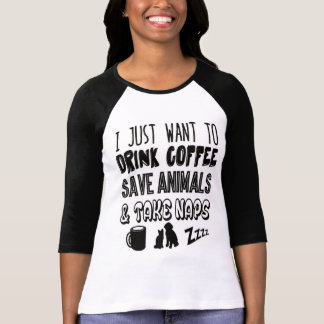 T-shirt Animaux et petits sommes de café