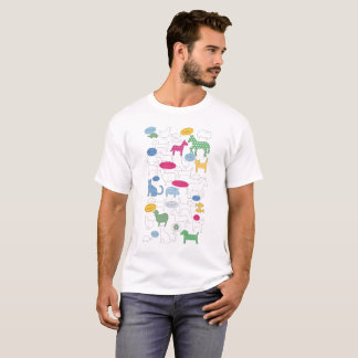 T-shirt Animaux familiers à travers la pièce en t des