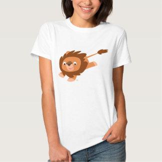 T-shirt animé mignon de femmes de lion de bande